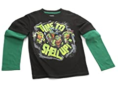 TMNT Long Sleeve Tee - Black (4-7)