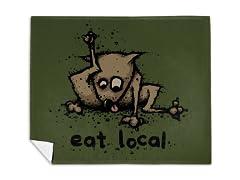 """""""Eat Local"""" Mink Fleece Blanket"""