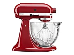 KitchenAid 5Qt Tilt-Head Stand Mixer-Red