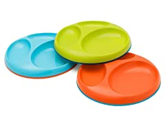Saucer Stayput Plate 3Pk - Orange Multi