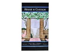 House & Garden-Patio Scene Beach Towel