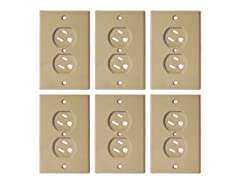 Dreambaby Beige Swivel Outlet Cover-6 Pk