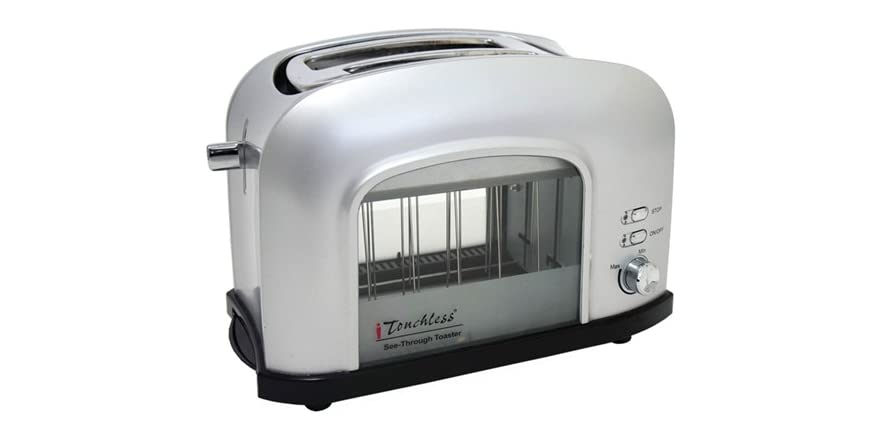 itouchless see through smart toaster silver. Black Bedroom Furniture Sets. Home Design Ideas