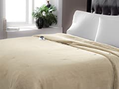 Serta Luxe Plush Electric Warming Blanket- 2 Sizes