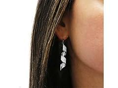 Silver Spiral Crystal Drop Earrings