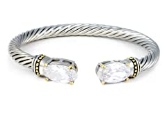 Regal Jewelry 18K Gold-Plated Simulated Diamond Bangle