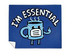 Coffee is Essential Mink Fleece Blanket