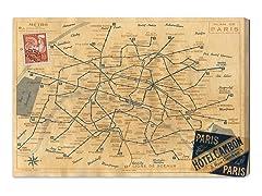 1956 Metro Map of Paris (4 Sizes)