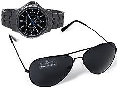 Oscar & Adrien Alpha Watch & Sunglass Gift Set