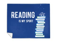 Reading Is My Sport Mink Fleece Blanket