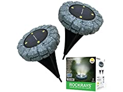 Solar RockRay LED Disk Lights