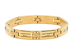 18kt Plated Link Bracelet w/ Accents
