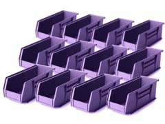 "11"" x 4"" x 4"" 12-Pack, Purple"