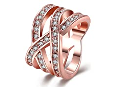 Swarovski Crystal Infinity Ring