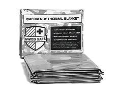 Swiss Safe Camouflage Emergency Mylar Blankets