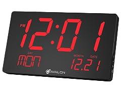 Avalon Oversized LED Digital Wall/Desk Clock - 2 pack