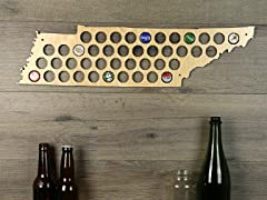 Beer Cap Map: Tennessee