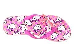 Hello Kitty Women's Platform Wedge Flip Flops, Coral