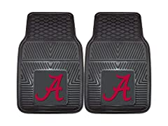 "NCAA 2-pc Vinyl Car Mats 17""x27"""