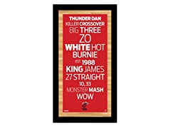 "Miami Heat 9.5"" x 19"" Sign"
