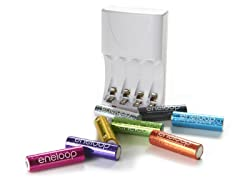 eneloop 8pk AA with 4-Position Charger