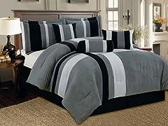 Reham 7pc Comforter Set - Grey - 2 Sizes