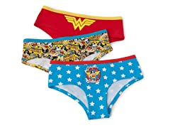 Wonderwoman Hipster Brief 3-Pack