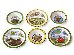 6 Piece Plate/Bowl Set - John Deere