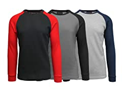 3-Pack Men's L/S Raglan Thermal Shirts