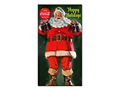 Coke® Santa Holding 6 pk of Coca Cola®