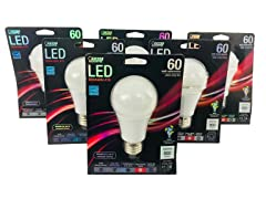 LED, 800 Lumens, Dimmable A19 Bulb (6-Pack)