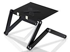 Adjustable Multifunctional Laptop Desk w/USB Fan