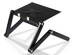 Adjustable Multifunctional Laptop Desk w/USB Fan