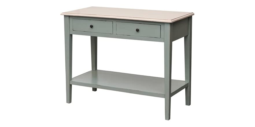 Catalina Console Table W White Top