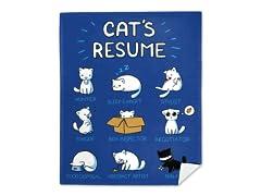 """""""Cat's Resume"""" Mink Fleece Blanket"""