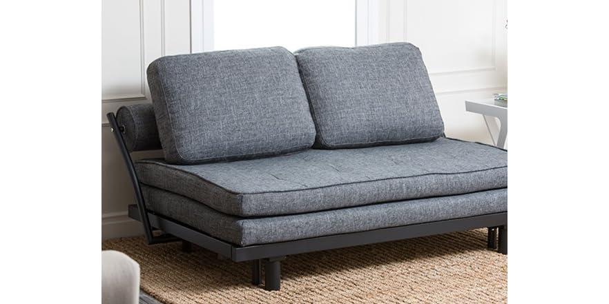 basilica convertible euro sofa gray. Black Bedroom Furniture Sets. Home Design Ideas