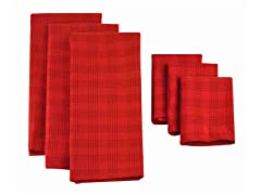 Heavyweight Dishtowel Set-Tango Red