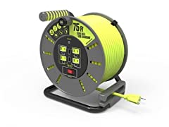 MasterPlug 75' Extension Cord Reel with USB