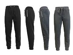 Men's Fleece Jogger Pants - 2 Pack