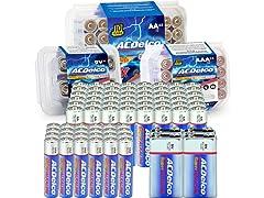 ACDelco Bundle: AA 48pk, AAA 24pk, 9v 4pk