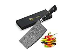 "Katsura Cutlery Chinese Cleaver Knife, 6.5"""