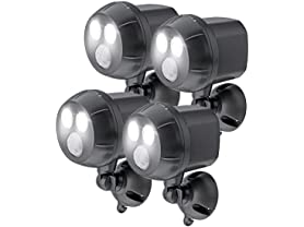 Motion-Sensing 400L Spotlights (4-Pack)