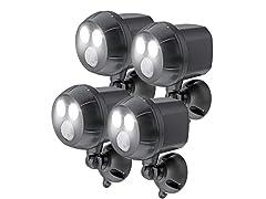 Motion-Sensing 400L Spotlights (4-Pack)
