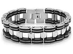 "Stainless Steel 8"" Bicycle Link Bracelet"