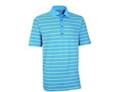 Performance Stripe Golf Shirt - Azure