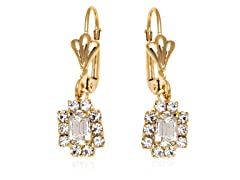 18K Gp Clear Crystal Drop Earring