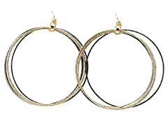 Multi-Colored Ring Loop Earrings