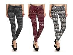 Women's Fleece Lined Leggings 3 Pack