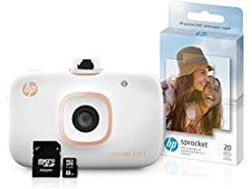 HP Sprocket 2-in-1 Instant Camera & Printer Bundle