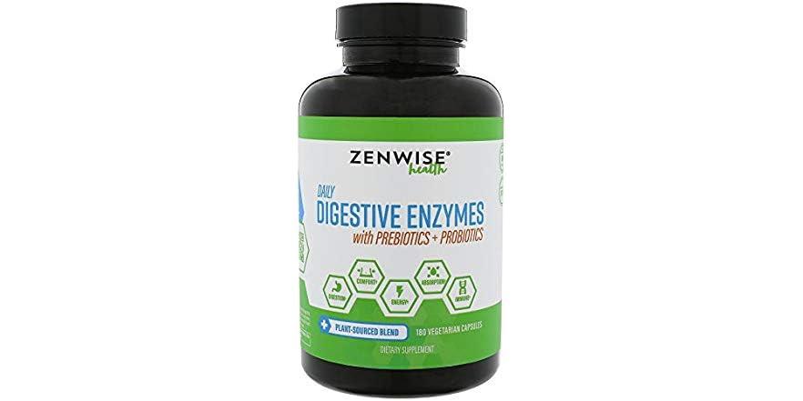Zenwise Health Digestive Enzymes Plus Prebiotics & Probiotics - 180 Vegetarian Capsules | WOOT